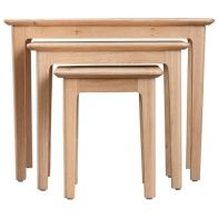 See more information about the Bayview Light Oak 3 Nest Of Tables