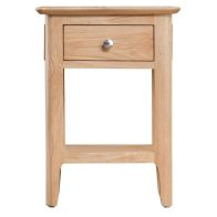 See more information about the Bayview Light Oak 1 Drawer Side Table