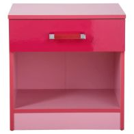 See more information about the Ottawa 2 Tones Pink 1 Drawer Bedside Cabinet