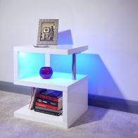 See more information about the Polar MDF White High Gloss LED Side Table