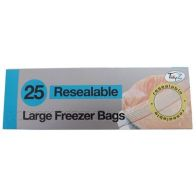 See more information about the 25 Pack Resealable Freezer Bags
