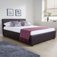 See more information about the Faux Leather Double Bed 4ft 6in Ottoman Bed Frame
