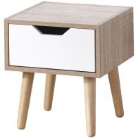 See more information about the Stockholm 1 Drawer Nightstand - White Oak
