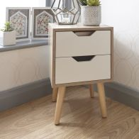See more information about the Stockholm 2 Drawer Nightstand - White Oak