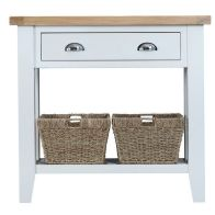 See more information about the Lighthouse Oak Top 1 Drawer Console Table White
