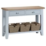 See more information about the Lighthouse Oak 2 Drawer Large Console Table Grey