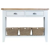 See more information about the Lighthouse Oak 2 Drawer Large Console Table White