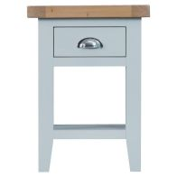 See more information about the Lighthouse Oak Top 1 Drawer Side Table Grey