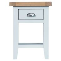 See more information about the Lighthouse Oak Top 1 Drawer Side Table White