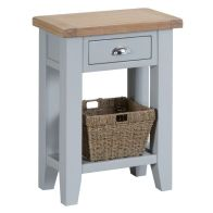 See more information about the Lighthouse Oak 1 Drawer Telephone Table Grey