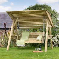 See more information about the Miami Wooden 3 Seater Garden Swing Seat