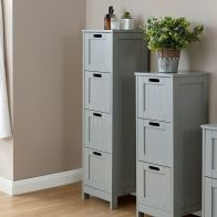 See more information about the Colonial MDF Slim Grey 4 Drawer Chest of Drawers